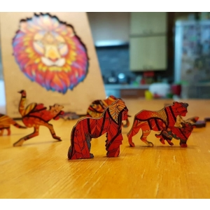 Wooden Jigsaw Puzzle Mysterious Lion photo review