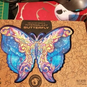 Wooden Jigsaw Puzzle Intergalaxy Butterfly photo review