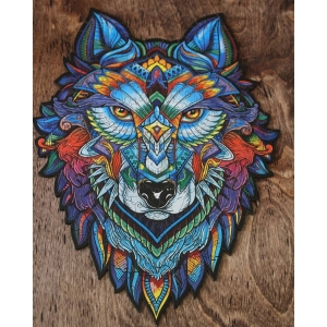 Wooden Jigsaw Puzzle Majestic Wolf photo review