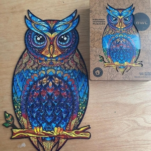 Wooden Jigsaw Puzzle Charming Owl photo review